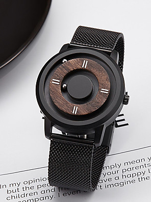 cheap Sport Watches-Men's Sport Watch Quartz Fashion Day Date Stainless Steel Analog - Black One Year Battery Life