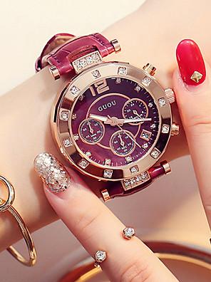 cheap Quartz Watches-Women's Quartz Watches Quartz Luxury Water Resistant / Waterproof Genuine Leather Analog - White Black Blue One Year Battery Life