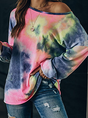 cheap Oversize Sweater-Summer Tid Dye Rainbow Hoodie