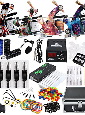 cheap Steel Band Watches-Solong Tattoo Professional Tattoo Kit Tattoo Machine - 4 pcs Tattoo Machines, Professional Level / All in One / Easy to Setup Alloy LCD power supply 4 alloy machine liner & shader / Case Included