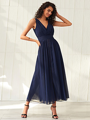 cheap Party Dresses-Women's Swing Dress Maxi long Dress - Sleeveless Solid Color Summer Elegant Party Beach 2020 Blue Red XS S M L XL