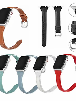cheap Smart Watches-Genuine Leather Watch Band Strap for Apple Watch Series 5/4/3/2/1 20cm / 7.9 Inches 1.5cm / 0.6 Inches