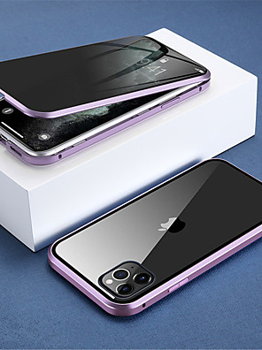 cheap iPhone Cases-Magnetic Privacy Glass Double Sided Case for iPhone 11/ 11Pro Case Anti-Peeping 360 Protective Magnet Case for iPhone 11 Pro Max Cover
