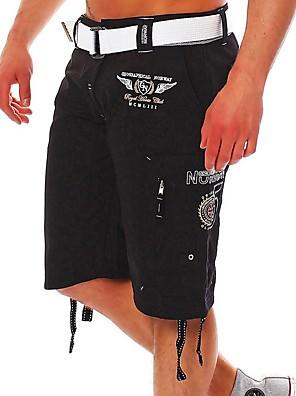 cheap Men's Pants & Shorts-Men's Basic Loose Chinos Shorts Pants - Print White Black Blue US32 / UK32 / EU40 / US34 / UK34 / EU42 / US36 / UK36 / EU44