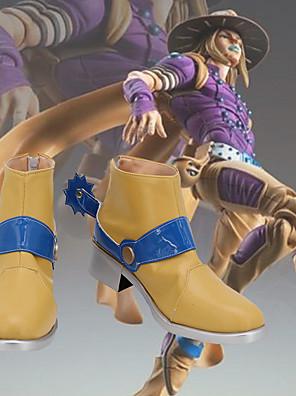 olcso Férfi pólók és atléták-Szerepjáték Cipők JoJo a Bizarre Adventure Szerepjáték Anime Szerepjáték cipők PU bőr Férfi / Női Mindszentek napi kösztümök