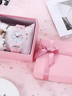 cheap Quartz Watches-Women's Quartz Watches Quartz New Arrival Chronograph Rubber White / Pink / Sky Blue Analog - White Blushing Pink Sky Blue / Luminous
