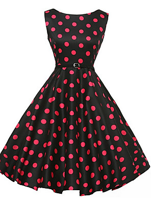 cheap Mini Dresses-Women's A Line Dress - Sleeveless Floral Summer Elegant 2020 Black S M L XL XXL