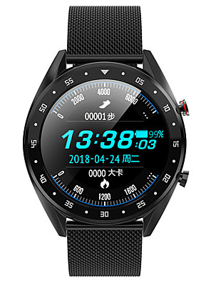 cheap Smart Watches-L7 Unisex Smart Wristbands Android iOS Bluetooth Waterproof Touch Screen Heart Rate Monitor Blood Pressure Measurement Calories Burned ECG+PPG Stopwatch Pedometer Call Reminder Sleep Tracker