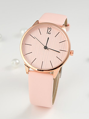 cheap Quartz Watches-Women's Quartz Watches Fashion Black Silver PU Leather Chinese Quartz Light Brown Lace Blushing Pink Red Adorable 1 pc Analog One Year Battery Life