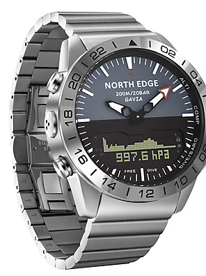cheap Sport Watches-NORTH EDGE Men's Military Watch Automatic self-winding Formal Style Modern Style Outdoor Water Resistant / Waterproof Stainless Steel Silver Analog - Digital - Silver One Year Battery Life / Japanese