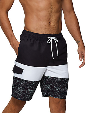 cheap Wetsuits, Diving Suits & Rash Guard Shirts-Men's Swim Shorts Swim Trunks Bottoms Breathable Quick Dry Drawstring - Swimming Diving Surfing Patchwork Autumn / Fall Spring Summer