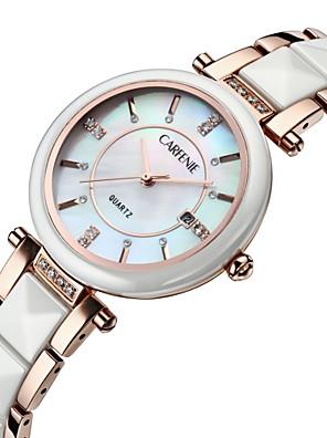 cheap Quartz Watches-Women's Quartz Watches Quartz Luxury Water Resistant / Waterproof Ceramic Analog - Rose Gold White One Year Battery Life / Japanese / Calendar / date / day / Japanese