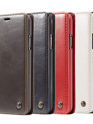 cheap Samsung Case-CaseMe Luxury Business Leather Magnetic Flip Case For iPhone 11 / 11 Pro / 11 Pro Max / SE2020 / Xs Max / Xr / Xs / X / 8 Plus / 7 Plus / 6 Plus / 8 / 7 / 6 With Wallet Card Slot Stand Case Cover