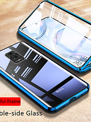 cheap Xiaomi Case-Magnetic Glass Case For Xiaomi Redmi Note 9S / 9Pro / 9Pro Max / 8T / 8 / 8Pro / 7s / 8A / K30Pro / K 20 Case Double Side Tempered Glass Metal Magnetic Adsorption Cover For Xiaomi Mi 10 / 10 Lite/ CC9