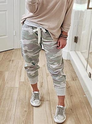 cheap Women's Pants-Women's Basic Loose Sweatpants Pants - Print Gray S / M / L