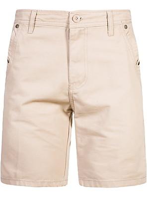 cheap Men's Pants & Shorts-Men's Military Slim Shorts Pants - Solid Colored Cotton Summer Black Khaki Green US34 / UK34 / EU42 / US36 / UK36 / EU44 / US38 / UK38 / EU46