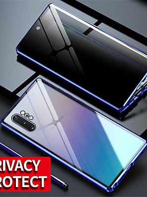 cheap For Young Women-Magnetic Tempered Glass Double Sided Case For Samsung Galaxy S20Ultra / S20 Plus / S20 / A70 / A50 / A50S / A30S / Note 8 / Note 9 / Note10 Note 10Plus / S10 / S9 / S8Plus Anti Peeping