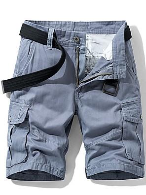 cheap Men's Pants & Shorts-Men's Basic Loose Shorts Bermuda shorts Pants - Solid Colored Summer Black Army Green Khaki US32 / UK32 / EU40 / US34 / UK34 / EU42 / US36 / UK36 / EU44