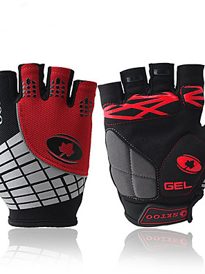 cheap Sports Support & Protective Gear-Bike Gloves / Cycling Gloves Windproof Anti-Slip Anti-Shock Fingerless Gloves Sports Gloves Lycra Red Orange Green for Outdoor Exercise Cycling / Bike