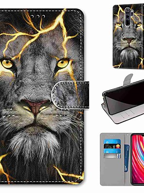 cheap Xiaomi Case-Case For Xiaomi Redmi Note 8 Pro / Redmi Note 8 / Redmi Note 8T Wallet / Card Holder / with Stand Fission Lion PU Leather / TPU for Redmi Note 7 / Mi CC9 Pro / Redmi 8 / Redmi K30 / Redmi 8A