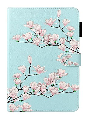 cheap iPad case-Case For Apple iPad 10.2 / iPad Mini 3/2/1 /Mini 4/5 Wallet / Card Holder / with Stand Full Body Cases Flower PU Leather For iPad Pro 9.7/New Air 10.5 2019/Air 2/2017/2018