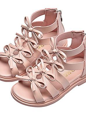 cheap Party Dresses-Girls' Comfort PU Sandals Marten Sandals Little Kids(4-7ys) Black / Pink / Beige Summer