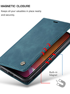 cheap iPhone Cases-CaseMe New Retro Leather Magnetic Flip Case For iPhone SE2020 / 11 Pro Max / 11 Pro / 11 / Xs Max / Xs / Xr / X / 8 Plus / 7 Plus / 6 Plus / 8 / 7 / 6 With Wallet Card Slot Stand Cover