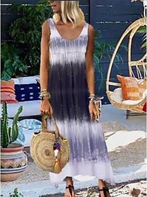 cheap Maxi Dresses-Women's Strap Dress Maxi long Dress - Sleeveless Tie Dye Summer V Neck Casual Mumu 2020 Blue Red Gray S M XL XXL XXXL XXXXL XXXXXL