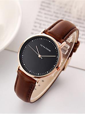 cheap Quartz Watches-Women's Quartz Watches Quartz Luxury Water Resistant / Waterproof Analog - Rose Gold Black Brown One Year Battery Life / Japanese / Japanese