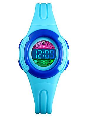 cheap Kids' Watches-SKMEI Kids Digital Watch Digital Outdoor Water Resistant / Waterproof PU Leather Black / Blue / Red Digital - Black Blue Purple Two Years Battery Life / Calendar / date / day / Chronograph