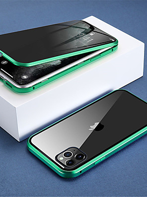 cheap iPhone Cases-Magnetic Privacy Glass Case for iPhone SE 2020 / 11 / X / SX / XR /  XS Max Case Anti-Spy 360 Protective Magnet Case for iPhone 11Pro / 11Pro Max / 8Plus / 8 / 7Plus / 7 / 6S  / 6sPlus / 6 / 6P Cover
