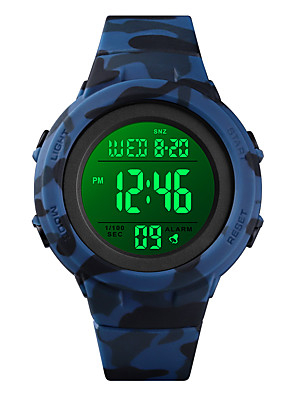 cheap Sport Watches-SKMEI Men's Sport Watch Digital Modern Style Sporty Casual Calendar / date / day Silicone Black / Blue / Green Digital - Black Blue Green One Year Battery Life / Chronograph / Dual Time Zones