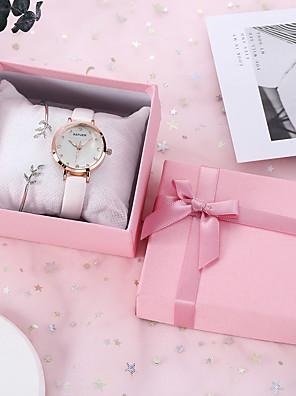 cheap Quartz Watches-SANDA Women's Quartz Watches Cubic Zirconia New Arrival Fashion PU Leather Quartz Blushing Pink Blue White Chronograph New Design Casual Watch 1 set Analog