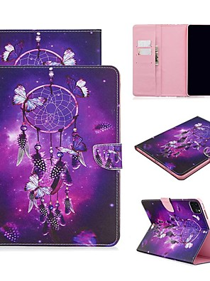 cheap iPad case-Case For Apple iPad Air/iPad 4/3/2/Mini 3/2/1 Wallet / Card Holder / with Stand Full Body Cases Feathers PU Leather For iPad Pro 9.7/New Air 10.5 2019/Pro 11 2020/Mini 5/2017/2018/ipad 10.2