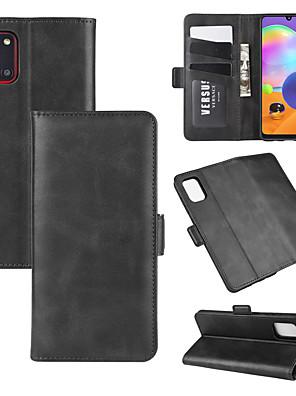 voordelige Samsung-accessoires-voor Samsung Galaxy A71 / A51 / A31 / A21 portemonnee staan lederen mobiele telefoon geval met portemonnee& houder& kaartsleuven