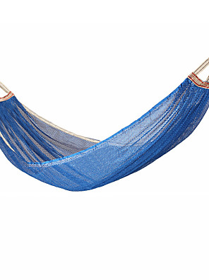 cheap Camping Furniture-Camping Hammock Outdoor Breathability Wearable Reusable Adjustable Flexible Folding Nylon PVA Ice Silk for 1 person Hunting Hiking Beach Blue Red Pink 200*150 cm Pop Up Design