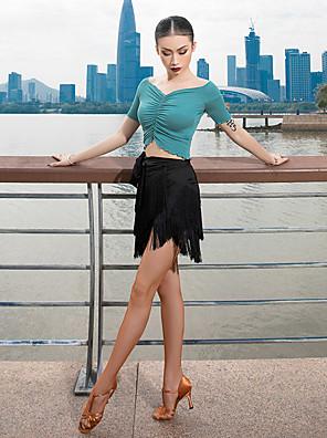 cheap Prom Dresses-Latin Dance Skirts Tassel Women's Performance Dropped Milk Fiber