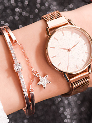 cheap Quartz Watches-Women's Quartz Watches Quartz Stylish Fashion Adorable Rose Gold Analog - Rose Gold White Black One Year Battery Life
