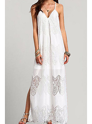 cheap Summer Dresses-Women's Sheath Dress - Sleeveless Solid Color Summer Elegant 2020 White Black S M L XL XXL XXXL XXXXL XXXXXL