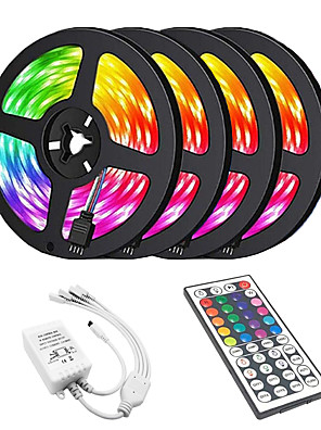 cheap Evening Dresses-20m Light Sets 1200 LEDs 2835 SMD RGB Cuttable / Linkable / Suitable for Vehicles 100-240 V / Self-adhesive / IP44