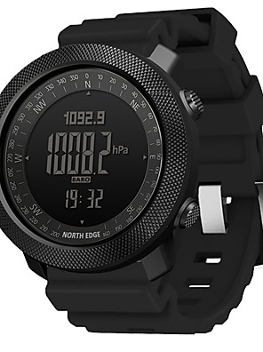 cheap Sport Watches-NORTH EDGE Men's Military Watch Japanese Digital Modern Style Sporty Silicone Black / Blue / Orange 50 m Water Resistant / Waterproof Altimeter Thermometer Digital Casual Outdoor - Black Blue Orange