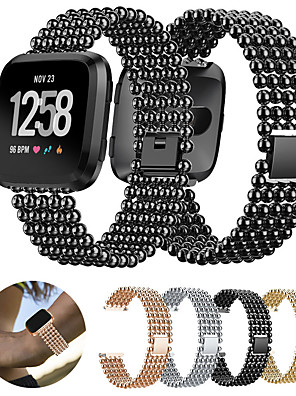 cheap Leather Watch Bands-Stainless Steel Watch Band Strap for Fitbit Versa 17cm / 6.69 Inches 2.3cm / 0.91 Inches