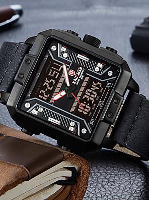 cheap Sport Watches-KADEMAN Men's Sport Watch Digital Modern Style Sporty Cool Calendar / date / day Genuine Leather Analog - Digital - Black Blue Red / Noctilucent