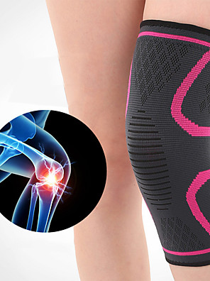 cheap Sports Support & Protective Gear-Knee Brace Knee Sleeve for Joint Pain and Arthretith Running Marathon Anti-slip Strap Compression Collision Avoidance Fast Dry Breathable Men's Women's Emulsion Spandex Fabric 1 Piece Sports Daily