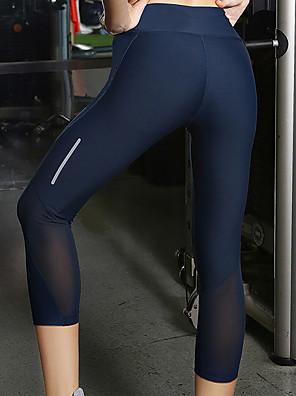 cheap Leggings-Women's Yoga Basic Legging - Solid Colored Mid Waist Navy Blue XXS XS S
