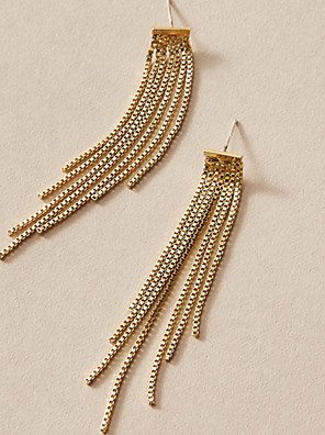 cheap Evening Dresses-Women's Drop Earrings Earrings Tassel Fringe Fashion Simple Classic Vintage Trendy Fashion Earrings Jewelry Gold For Gift Date Vacation Street Festival 1 Pair
