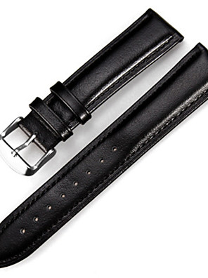 cheap Leather Watch Bands-Genuine Leather / Leather Watch Band Black / Brown 20cm / 7.9 Inches 1.2cm / 0.47 Inches / 1.4cm / 0.55 Inches / 1.6cm / 0.6 Inches