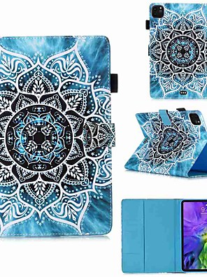 cheap iPad case-Case For Apple iPad Pro 11''(2020) / iPad 2019 10.2 / Ipad air3 10.5' 2019 Wallet / Card Holder / with Stand Full Body Cases Mandala PU Leather / TPU for iPad Air / iPad Air2 / iPad (2018)