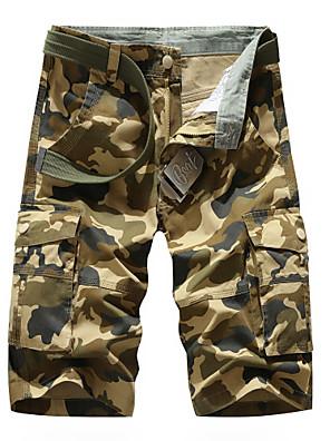 cheap iPhone Cases-Men's Basic Daily Slim Cotton Shorts Tactical Cargo Pants - Camouflage Breathable Summer Army Green Khaki US32 / UK32 / EU40 / US36 / UK36 / EU44 / US38 / UK38 / EU46