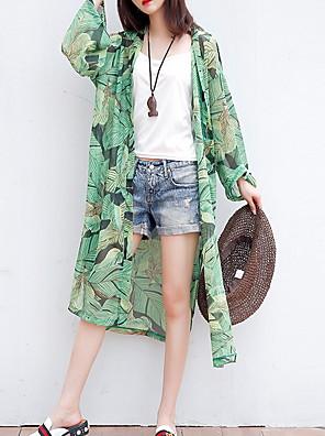 cheap Women's Coats & Trench Coats-Women's Trench Coat Daily Long Plants Green One-Size